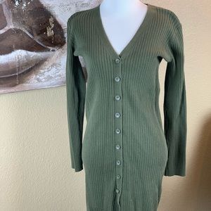 Forever 21 Army Green Mini Sweater Dress